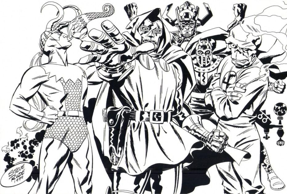 Marvel Villains Commission Comic Art
