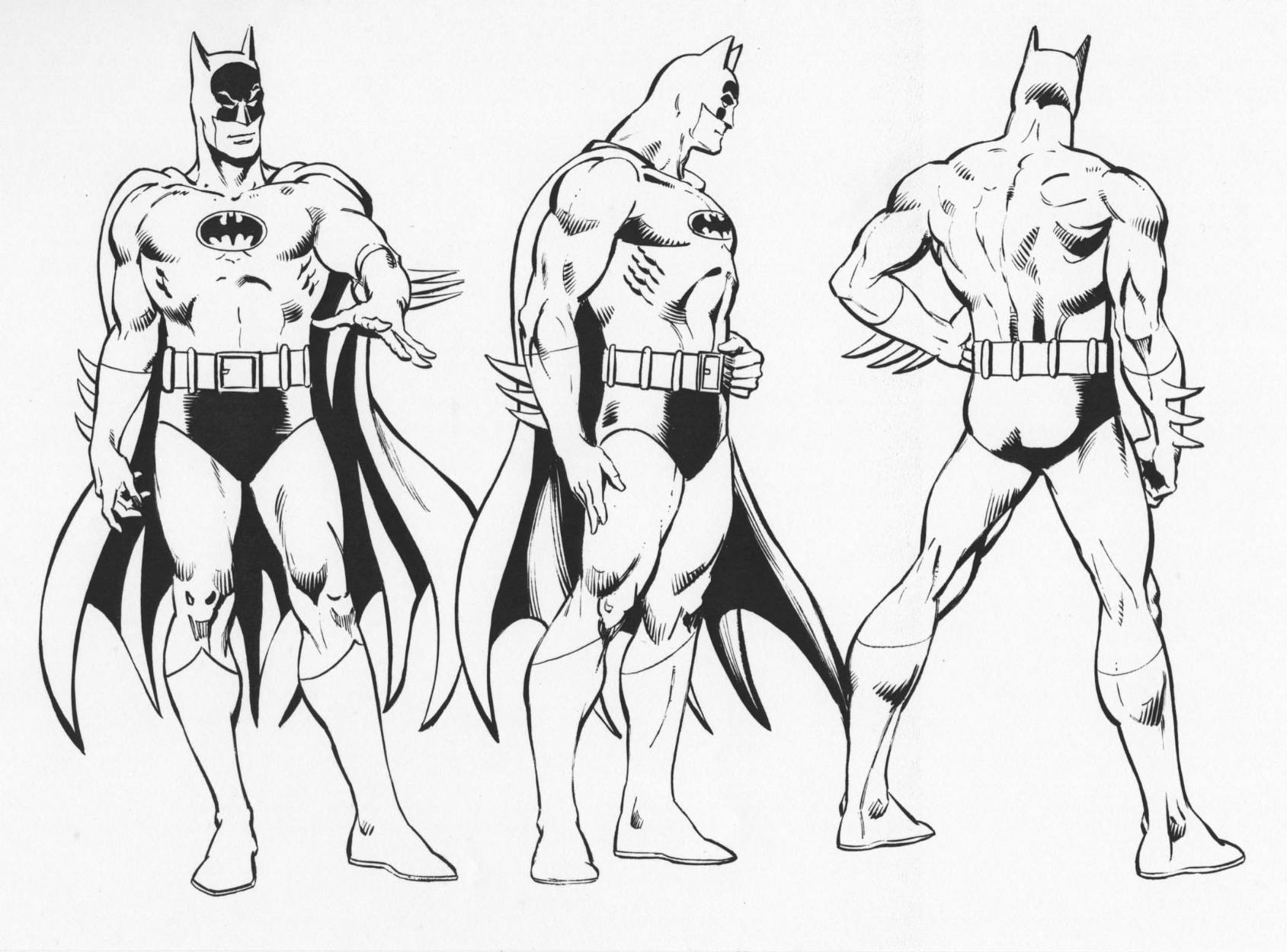 Batman style guide ic art