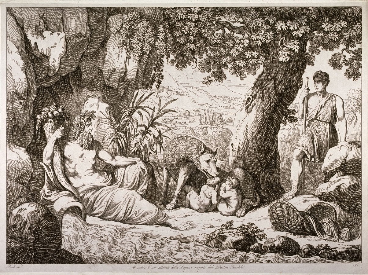 Romulus And Remus Nursed By A She Wolf And Discovered By
