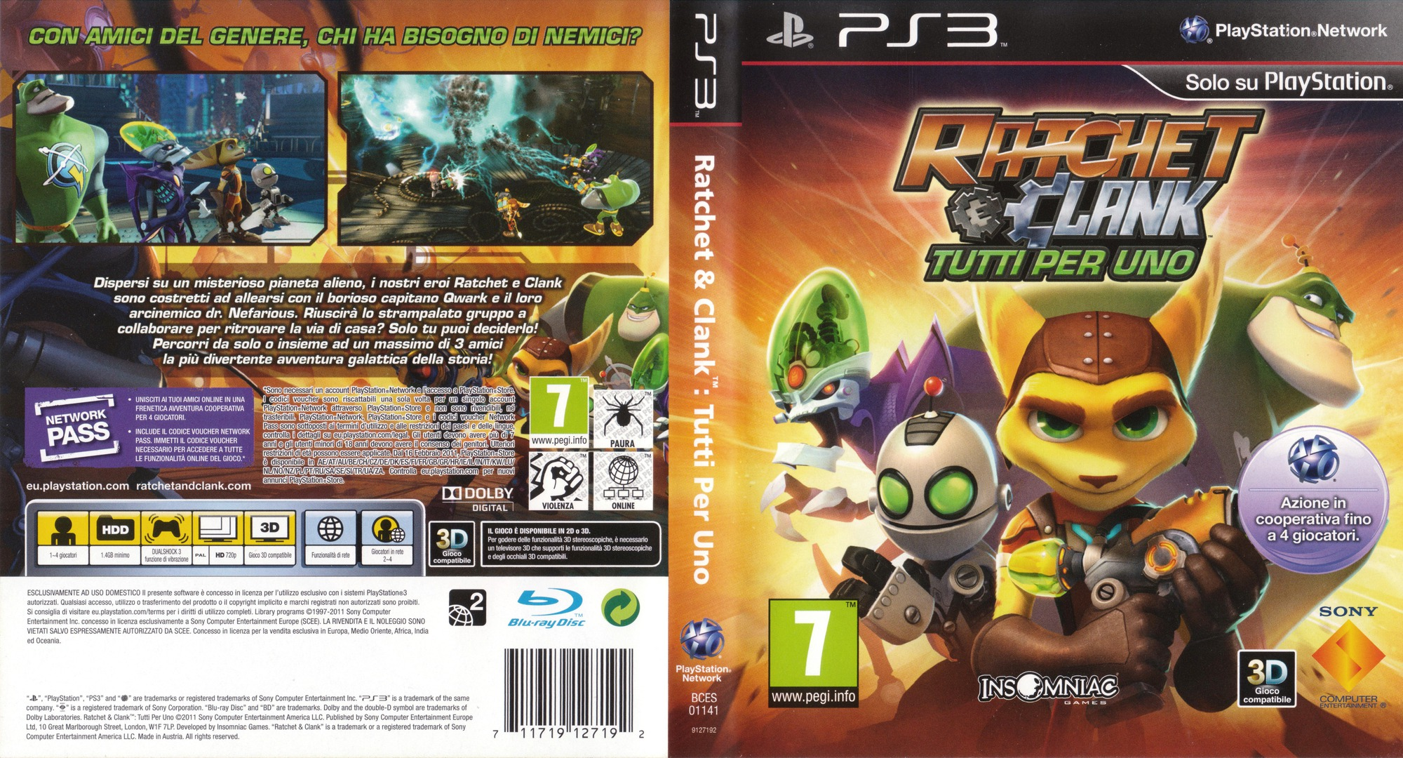 BCES01141 Ratchet Amp Clank All 4 One