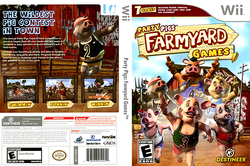 R5OENR   Party Pigs  Farmyard Games Party Pigs  Farmyard Games Wii cover  R5OENR