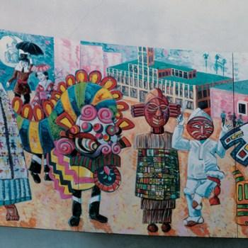 Frank Romero Festival of Masks Parade