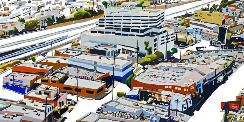 This is one of eight art panels created by artist Susan Logoreci for Expo/Sepulveda Station