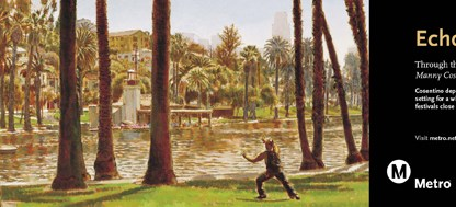 Art depicts an idyllic setting for a wide range of activities and festivals close to downtown.