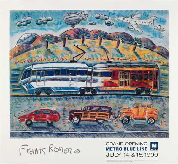 Frank Romero, Metro Blue Line Commemorative Poster