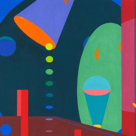 """Composition 10,"" 2012. 4 x 4 inches, gouache on paperboard."