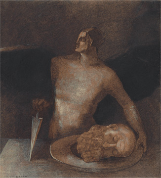 "Odilon Redon, ""Angel-Executioner,"" 1873/77 and 1893. Promised gift of Celia and David Hilliard."