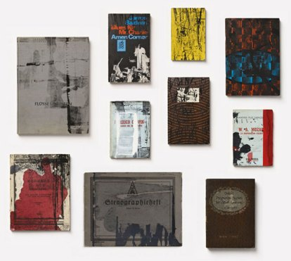 "Arturo Herrera, ""Books,"" silkscreen and mixed media on paper, 2012."