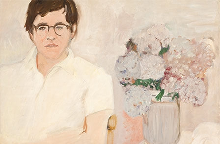 """Portrait of Kenneth Koch,""  oil on linen, c. 1966"