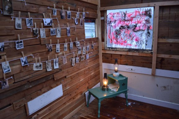 """Samantha Hill's """"Great Migration"""" installation at the Southside Hub of Production"""