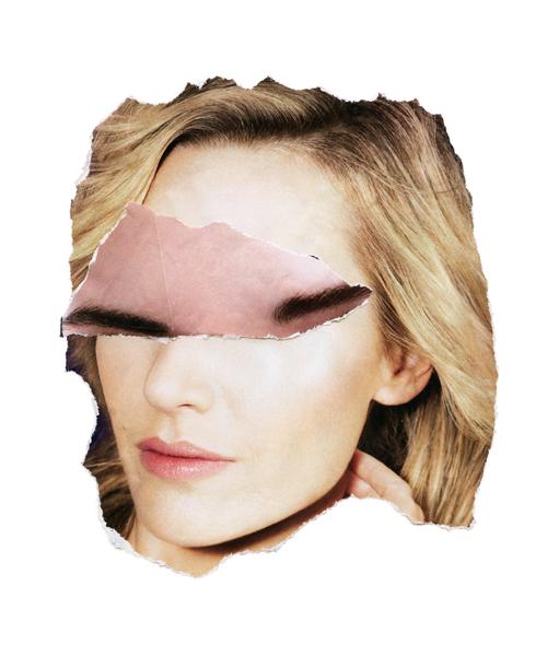 """Karen Savage. """"Widow #5,"""" scanned collage, inkjet print"""
