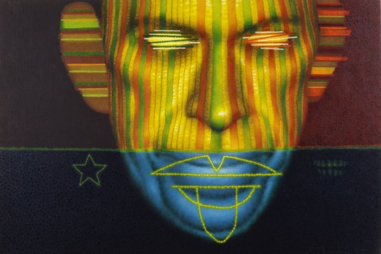 """Marbilize,"" oil on linen, 1993. © Ed Paschke"
