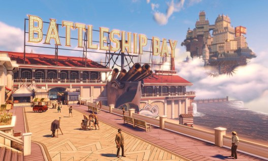 """Battleship Bay"" from Irrational Games, digital art print, 39"" x 70"""