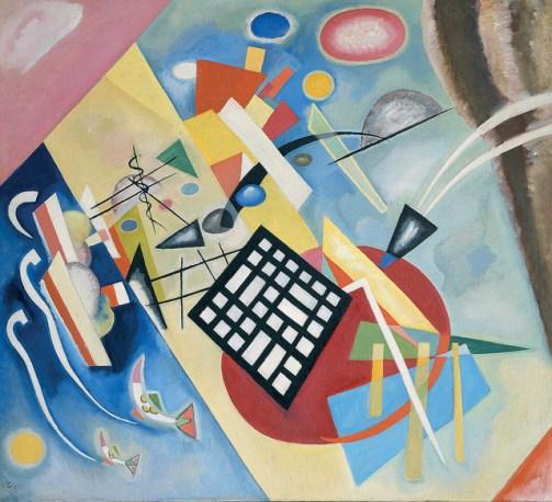 "Wassily Kandinsky. ""Black Grid (Schwarzer Raster),"" oil on canvas, 1922"