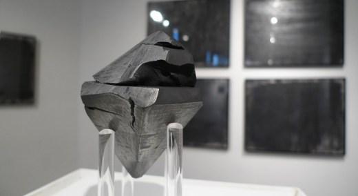 "Eliza Myrie. ""diamond, diamond, graphite,"" graphite and paper, dimensions variable"