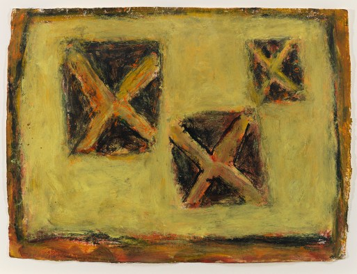 """Milton Resnick. """"X Space,"""" 2001, acrylic on paper,  22 ½"""" x 30 ½"""""""