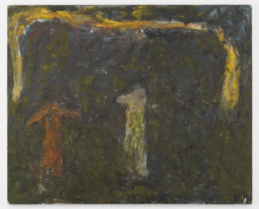 "Milton Resnick. ""U & Me,"" 1990, oil on canvas,  84 ½"" x 104 ½"""