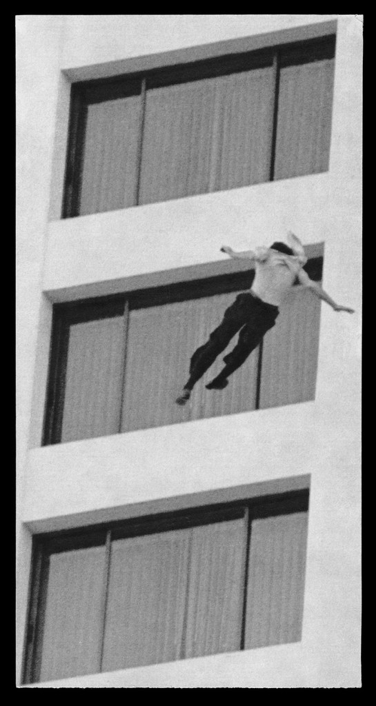 "Sarah Charlesworth. ""Unidentified Man, Ontani Hotel, Los Angeles,"" 1980, printed 2012"