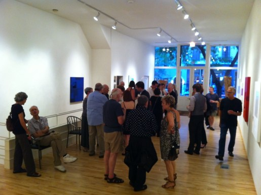 A lively social gathering for one of Marco Casentini's exhibitions at Roy Boyd Gallery