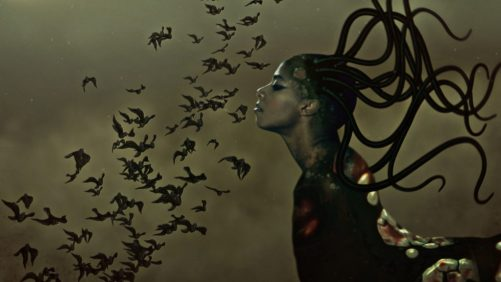 """Wangechi Mutu. """"The End of eating Everything,"""" (still), 2013, animated video (color, sound), 8:00 minute loop"""