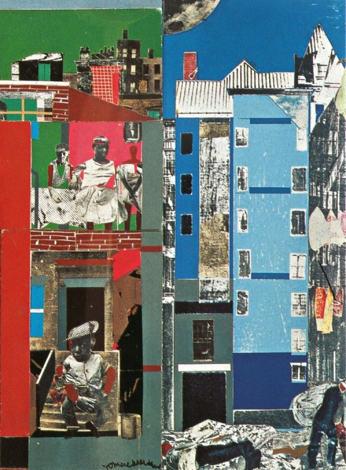 "Romare Bearden. ""The Block II"" (detail), 1972. Collection of Walter O. and Linda J. Evans"