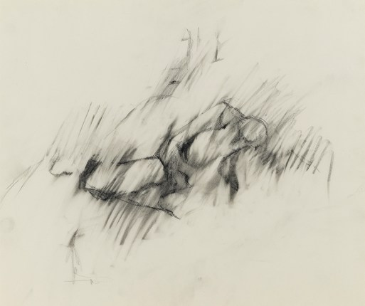 "Jack Tworkov. ""Untitled (Reclining Figure),"" circa 1955, charcoal on paper"