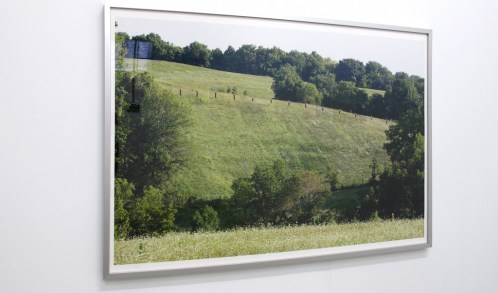 "Kendall Babel. ""Suggested Ridgeline,"" photographic print, emergency radio"