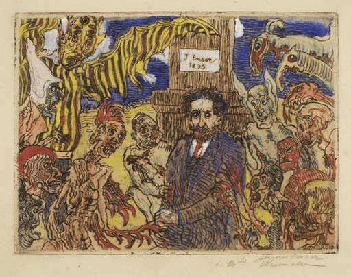 "James Ensor. ""Demons Teasing Me,"" 1895"