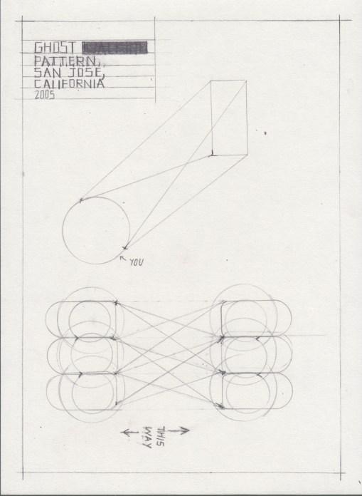 "Deb Sokolow. ""Ghost Pattern, San Jose, California,"" 2014 graphite on paper, 8"" x 6"""