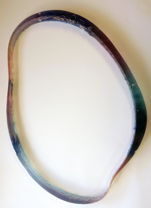 "Noelle Allen. ""Henry's Rainbow"", 2014 resin, 23"" x 32"" x 2"""