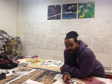 Esau McGhee in his East Garfield Park studio