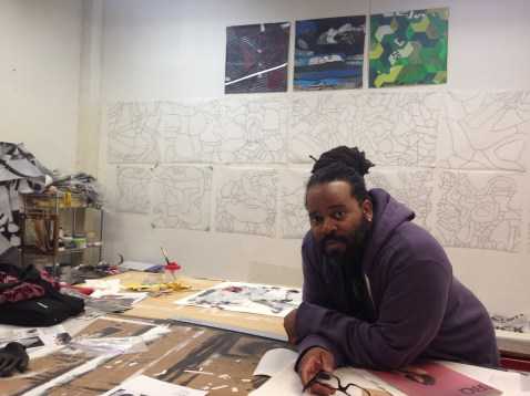 Esau McGhee in his East Garfield Park studio