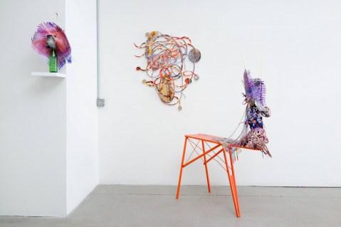 "Installation view of Aimeé Beaubien's ""Twist-flip-tremble-trace"" at Johalla Projects"