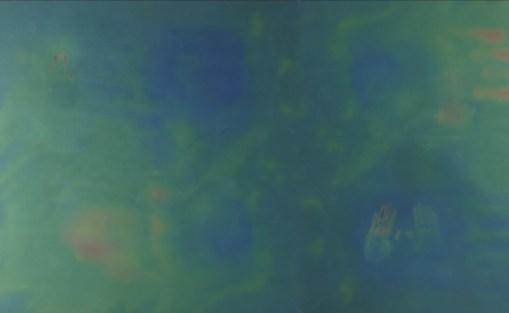 "Jillian Mayer. ""25.84° N, -80.17° W at 65' Inches,"" 2015 photo mounted on plexiglass 56.7"" x 31.9"""