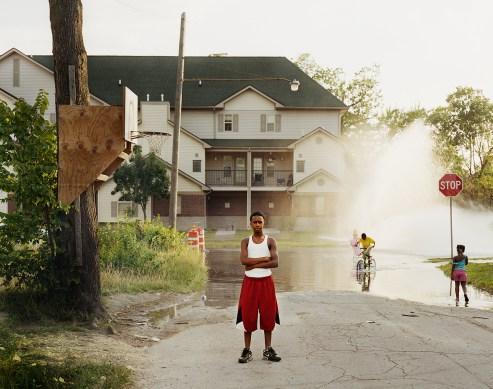 """Dan Farnum. """"Open Fire Hydrant, Detroit,"""" 2012 archival pigment print, 15"""" x 19"""""""