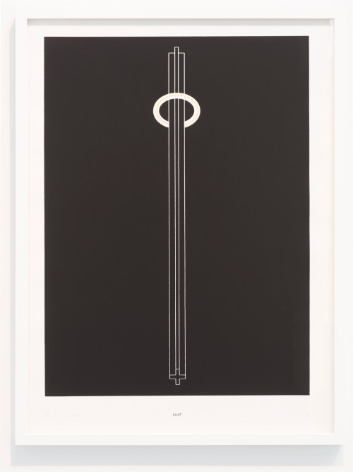 "Ania Jaworska. ""Saint,"" 2015. Screen print on folio paper; 30 x 22 inches."