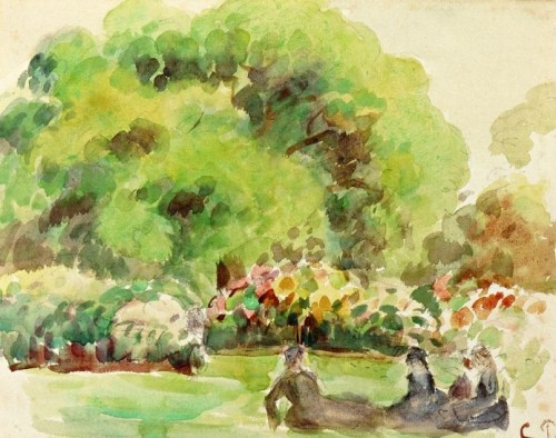 "Camille Pissaro. ""'Kew Gardens' (London)"", circa 1892. Watercolor on paper."