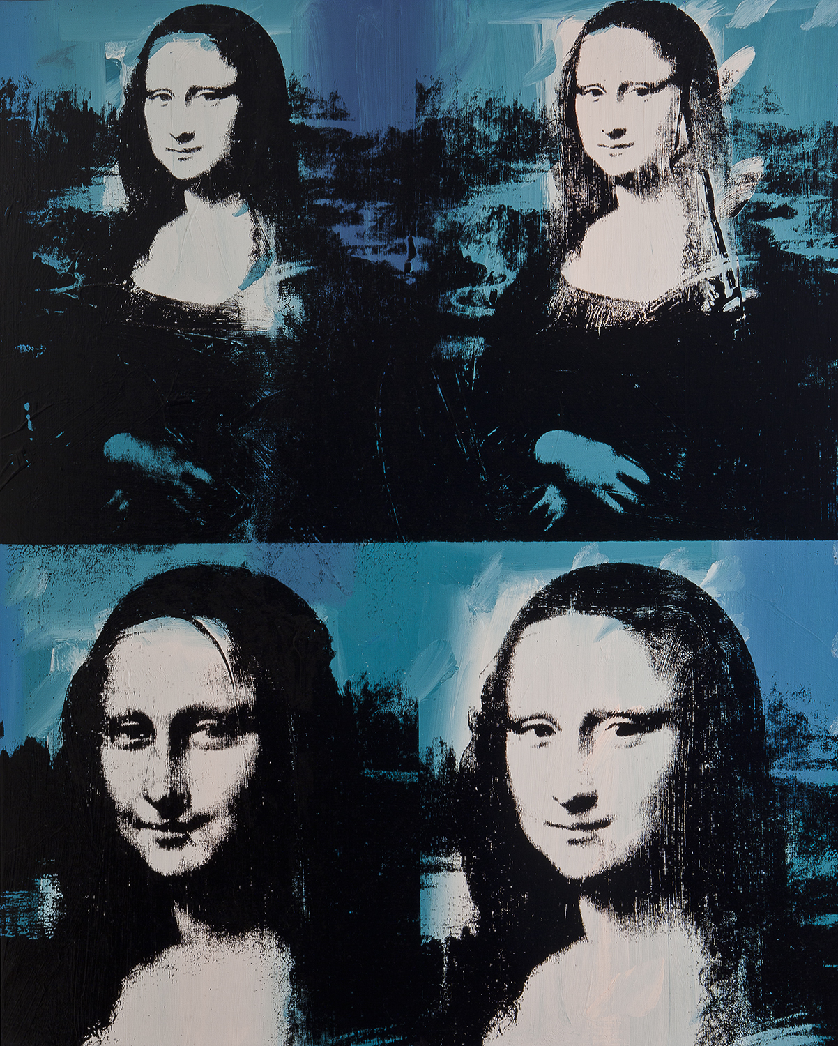 93ee74cffd1 Andy Warhol. Mona Lisa Four Times