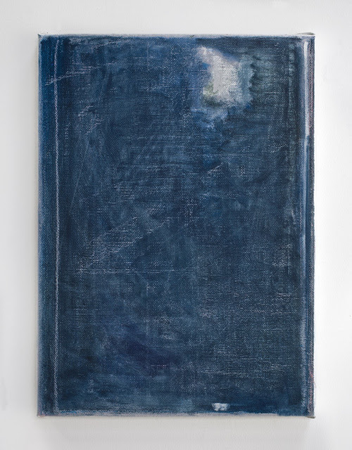 """John Zurier, """"Héra?sdalur 16 (Listening to Grieg),"""" 2014. Oil on jute 19 × 15 × 0.5 inches."""