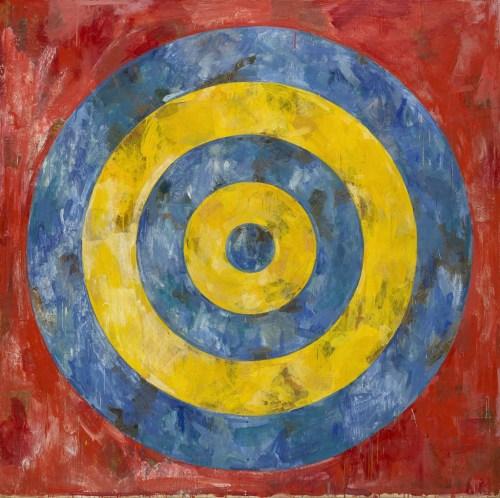 """Jasper Johns. """"Target,"""" 1961."""