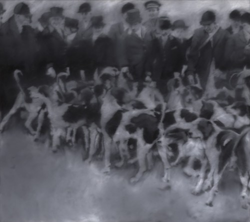 "Gerhard Richter. ""Hunting Party,"" 1966."