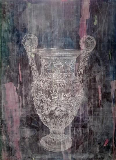 "Erin Washington. ""The Empty Vessel,"" 2015. 40 x 29 inches."