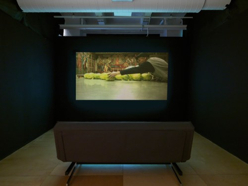 """Installation view of """"Few Were Happy with Their Condition"""" at Gallery 400, Winter 2016."""