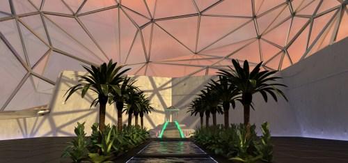 Interior rendering of the Digital Museum of Digital Art.