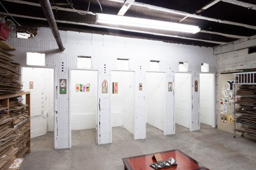 Installation view of The Back Room, selected by Steven Husby, 2016.