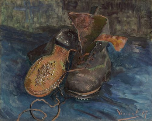 """Vincent van Gogh. """"A Pair of Boots,"""" 1887. The Baltimore Museum of Art. /Photo: Mitro Hood."""