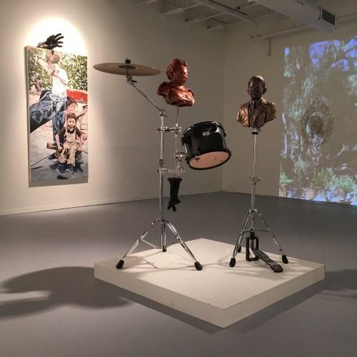 "Rodrigo Lara Zendejas. Installation view of ""La Paz"" at the Hyde Park Art Center, Spring 2016"