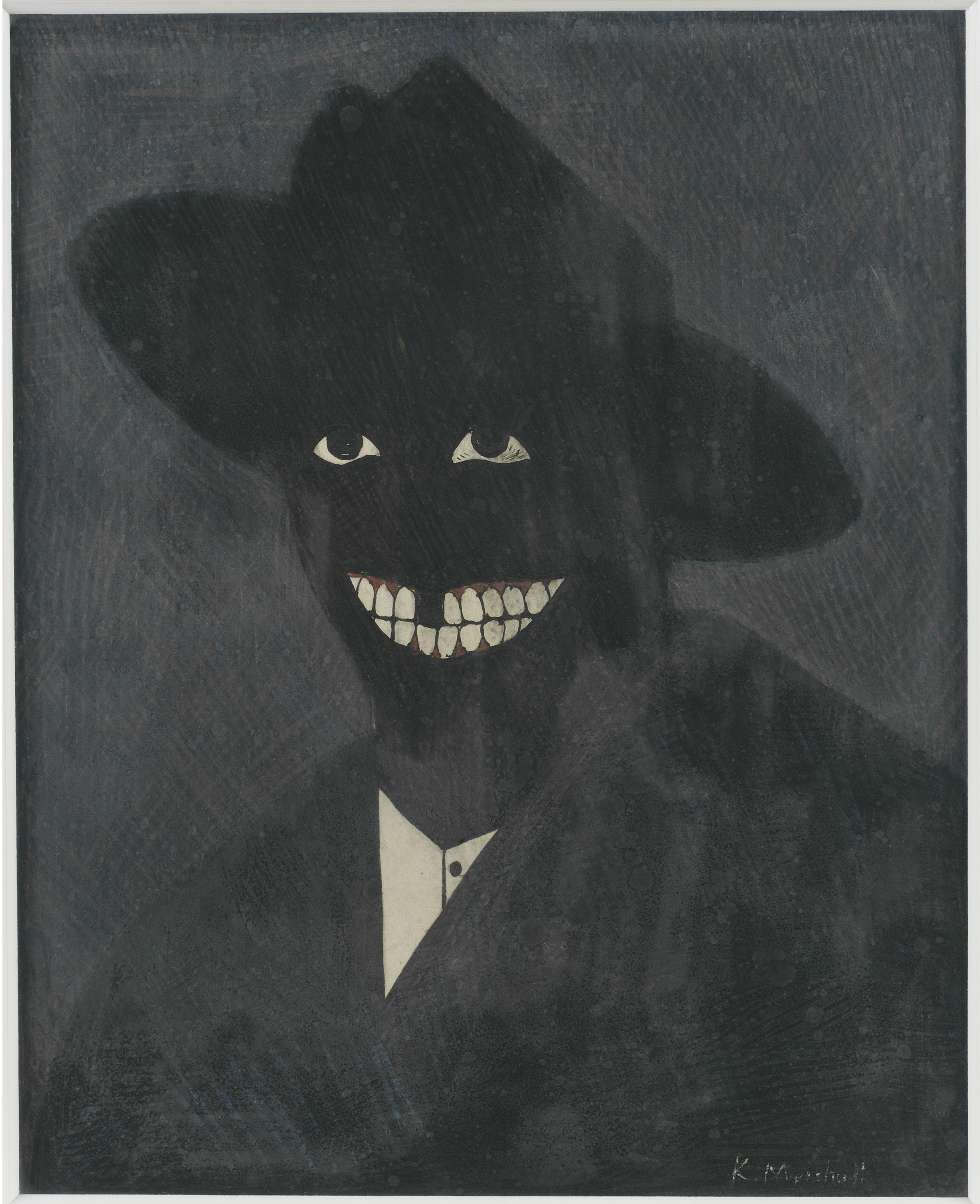 Kerry James Marshall, A Portrait of the Artist as a Shadow of His Former Self, 1980. Steven and Deborah Lebowitz. Photo: Matthew Fried, © MCA Chicago.