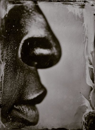 "Myra Greene. ""Untitled (Ref. #45) from Character Recognition,"" 2006-2007. Black glass ambrotype 4 x 3 inches"
