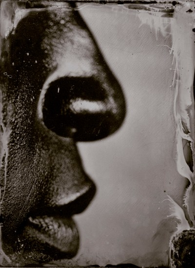 """Myra Greene. """"Untitled (Ref. #45) from Character Recognition,"""" 2006-2007. Black glass ambrotype 4 x 3 inches"""
